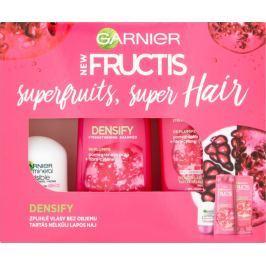 Garnier Fructis Densify posilující šampon na vlasy 250 ml + balzám 200 ml + Invisible Black White Colors deodorant roll-on pro ženy 50 ml, kosmetická sada