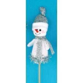 Sněhulák figurka bílá zápich 8 cm + špejle