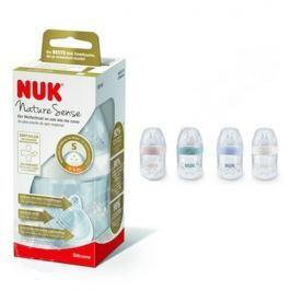 Nuk Nature Sense Láhev plastová kojící latexová savička 0 - 6 měsíců, velikost savičky S 260 ml