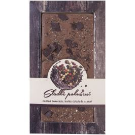 Bohemia Gifts & Cosmetics Sladké pokušení Pepř Ručně vyráběná mléčná, hořká čokoláda 80 g