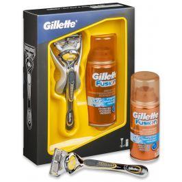 Gillette Fusion Proshield holící strojek + 1 náhradní hlavice + gel na holení 75 ml, kosmetická sada