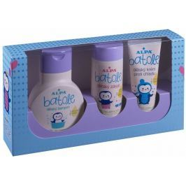 Alpa Batole šampon s olivovým olejem pro děti 200 ml + zásyp s extraktem z listu olivovníku 100 g + krém proti chladu 75 ml, kosmetická sada