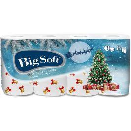 Big Soft Zima toaletní papír s potiskem 3 vrstvý 160 útržků 8 kusů
