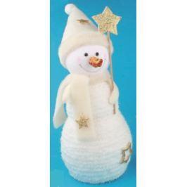 Sněhulák se zlatými doplňky na postavení 23 cm č.1
