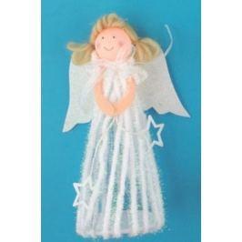 Anděl v sukni na postavení 20 cm č.1