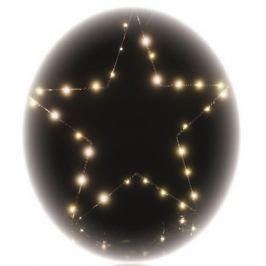 Emos Hvězda závěs 30 LED teplá bílá + časovač 39 x 34,5 cm