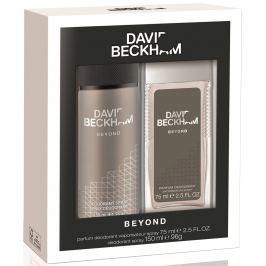 David Beckham Beyond parfémovaný deodorant sklo pro muže 75 ml + deodorant sprej 150 ml, kosmetická sada
