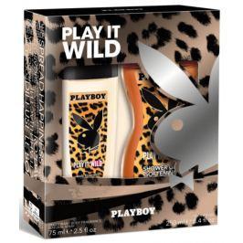 Playboy Play It Wild for Her parfémovaný deodorant sklo 75 ml + sprchový gel 250 ml, kosmetická sada
