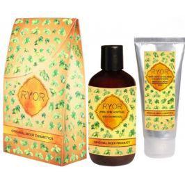 Ryor Pivní kosmetika krém s kyselinou hyaluronovou 100 ml + sprchový gel 250 ml, kosmetická sada