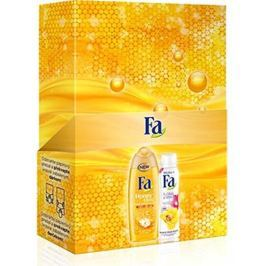 Fa Honey Elixír sprchový gel 250 ml + Floral Protect Orchid & Viola antiperspitant deodorant sprej 150 ml, kosmetická sada Kosmetické sady