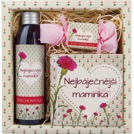Bohemia Gifts & Cosmetics Pro maminku sprchový gel 200 ml + ručně vyráběné mýdlo 30 g + dekorační kachlík 10 x 10 cm, kosmetická sada