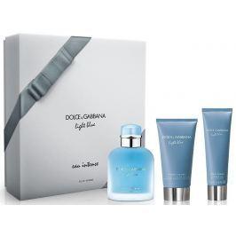 Dolce & Gabbana Light Blue Eau Intense Pour Homme parfémovaná voda pro muže 100 ml + sprchový gel 50 ml + balzám po holení 75 ml, dárková sada
