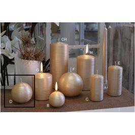 Lima Alfa svíčka béžová koule 80 mm 1 kus