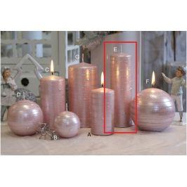Lima Galaxy svíčka růžová válec 50 x 170 mm 1 kus