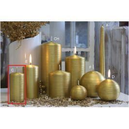 Lima Alfa svíčka zlatá válec 50 x 100 mm 1 kus