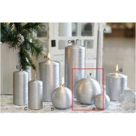 Lima Alfa svíčka stříbrná koule 100 mm 1 kus