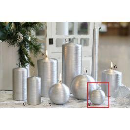 Lima Alfa svíčka stříbrná koule 60 mm 1 kus