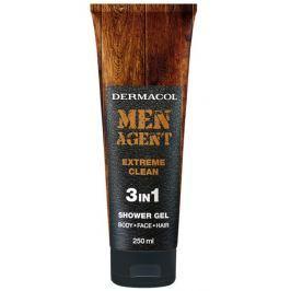 Dermacol Men Agent 3v1 Extreme Clean sprchový gel 250 ml tuba