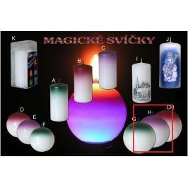 Lima Magická fialová svíčka koule 100 mm 1 kus