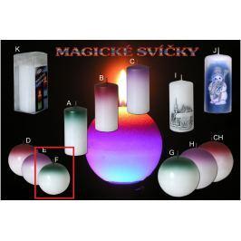 Lima Magická zelená svíčka koule 80 mm 1 kus