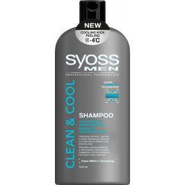 Syoss Men Clean & Cool šampon pro normální až mastné vlasy 500 ml