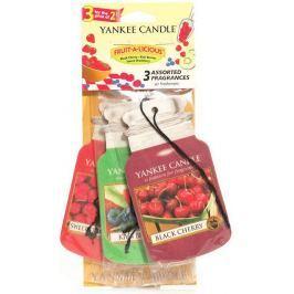 Yankee Candle Fruit A Licious - Mix ovoce vonná visačka do auta papírová sada 3 kusy x 12 g