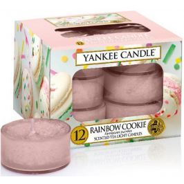 Yankee Candle Rainbow Cookie - Duhové makronky vonná čajová svíčka 12 x 9,8 g