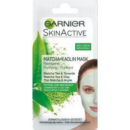 Garnier Skin Active Matcha + Kaolin Mask čisticí kaolinová pleťová maska pro smíšenou až mastnou pleť 8 ml