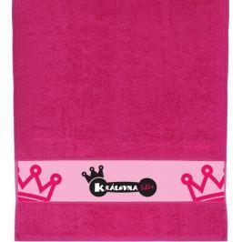 Albi Ručník Královna fitka růžový 90 x 50 cm