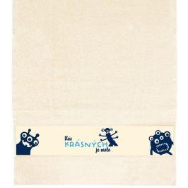 Albi Ručník Nás krásných je málo béžový 90 x 50 cm