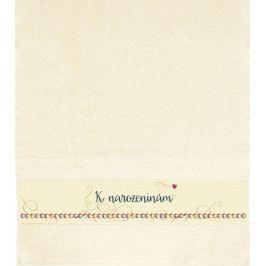 Albi Ručník K narozeninám béžový 90 x 50 cm