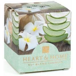 Heart & Home Zklidňující aloe Sojová vonná svíčka bez obalu hoří až 15 hodin 53 g