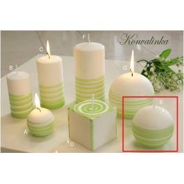 Lima Aromatická spirála Konvalinka svíčka bílo - zelená koule 80 mm 1 kus