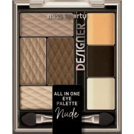 Miss Sporty Designer All in One paleta očních stínů 100 Nude Designer 9,5 g