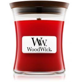 WoodWick Pomegranate - Granátové jablko vonná svíčka s dřevěným knotem a víčkem sklo malá 85 g