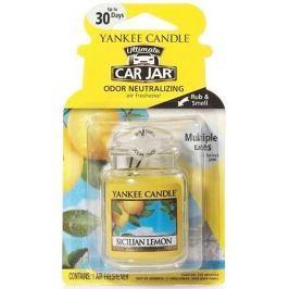 Yankee Candle Sicilian Lemon - Sicilský citrón gelová vonná visačka do auta 30 g