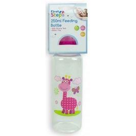 First Steps Jungle 0+ kojenecká láhev Žirafa 250 ml