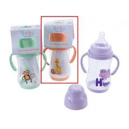 Baby First Žirafa 0+ kojenecká láhev s úchopy 250 ml