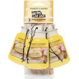 Yankee Candle Vanilla Cupcake - Vanilkový košíček vonná visačka do auta papírová sada 3 kusy x 12 g Vůně do auta