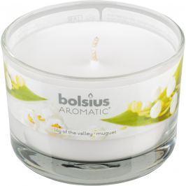 Bolsius Aromatic Lily Of The Valley - Konvalinka vonná svíčka ve skle 90 x 65 mm 247 g doba hoření cca 30 hodin