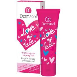 Dermacol Love My Face Vůně malin a lesního ovoce rozjasňující krém pro mladou pleť 50 ml