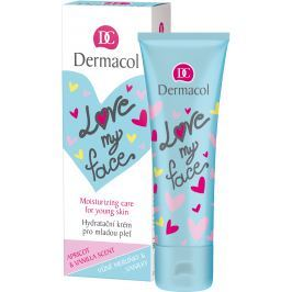 Dermacol Love My Face Meruňka a vanilka hydratační krém pro mladou pleť 50 ml