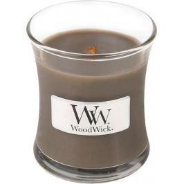 WoodWick Sand & Driftwood - Písek a naplavené dřevo vonná svíčka s dřevěným knotem a víčkem sklo malá 85 g