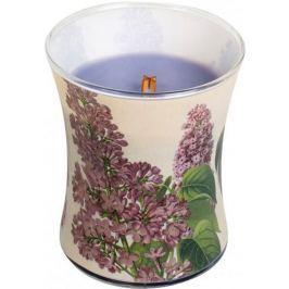 WoodWick Decal Lilac - Šeřík vonná svíčka s dřevěným knotem a víčkem sklo střední 275 g