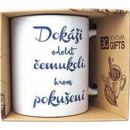 Bohemia Gifts & Cosmetics Keramický hrnek s potiskem Dokáži odolat čemukoli, krom pokušení 350 ml