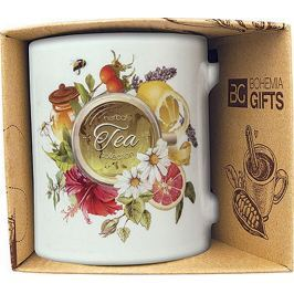 Bohemia Gifts & Cosmetics Keramický hrnek s potiskem Tea 350 ml