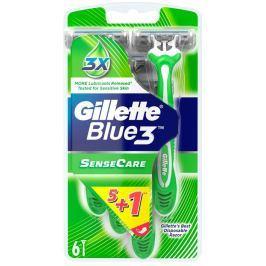 Gillette Blue 3 Sense Care 3břitý holící strojek pro muže 6 kusů