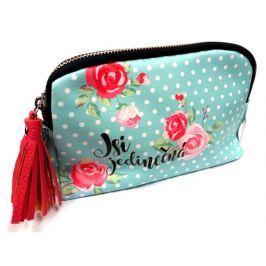 Nekupto Buď Jedinečná kosmetická taška Kytky 20 x 11,5 x 5 cm