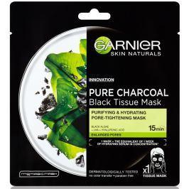 Garnier Skin Naturals Pure Charcoal Black Tissue Mask pleťová černá textilní maska s extraktem z mořských řas 28 g