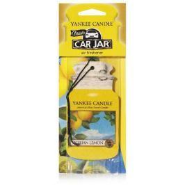 Yankee Candle Sicilian Lemon - Sicilský citrón vonná visačka do auta papírová 12 g